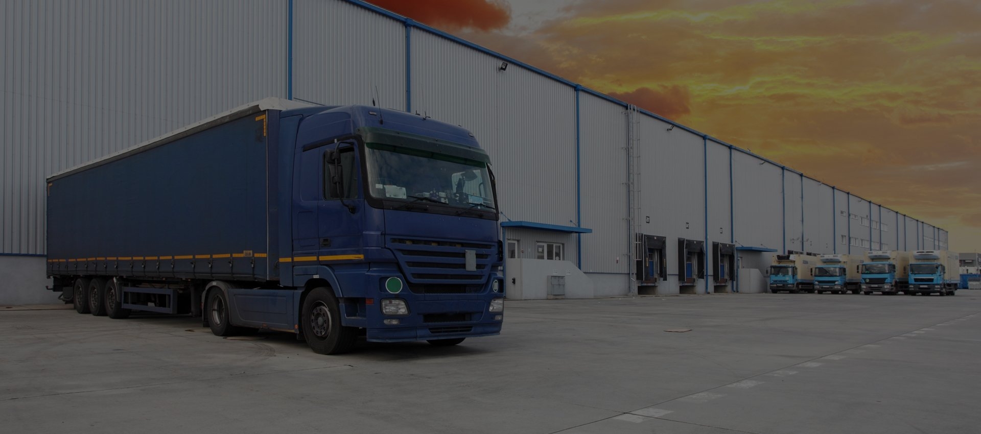 A lorry outside an industrial building