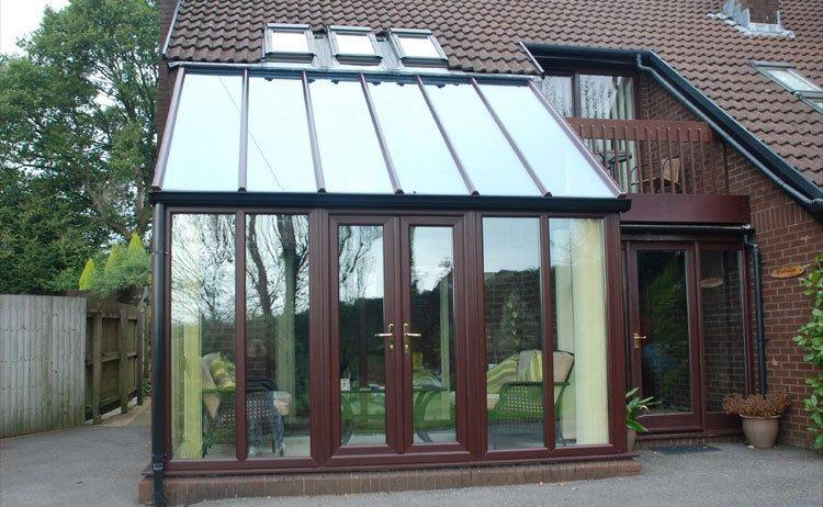 glass roofing and door