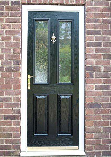 door with a golden latch