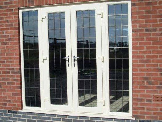 2 glass doors and glass windows