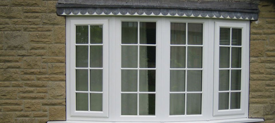 windows with white frame