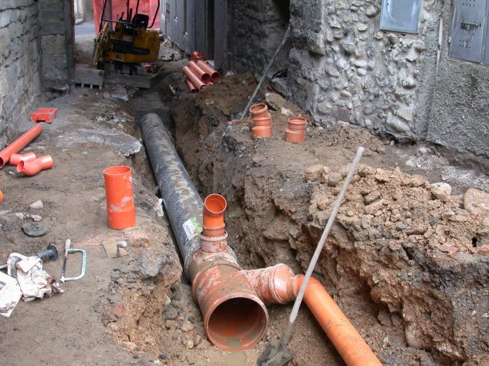 messa in posa di un sistema di drenaggio