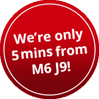 We're only 5 mins from M6 J9!
