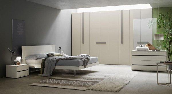 Excellent camera laccata o tinta essenza con letto con ali - Letto nell armadio ...