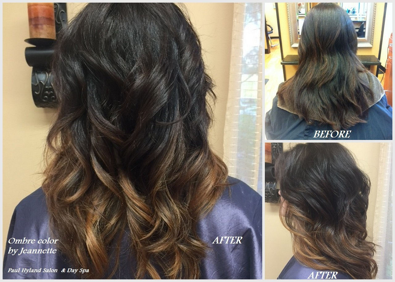 Ombre color, cut, and styling by Jeannette