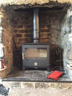 Wood burning boiler chimney