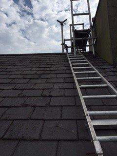 Chimney repairs underway