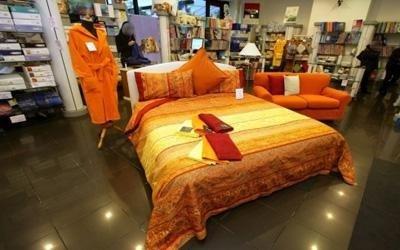 copriletto arancione bassetti