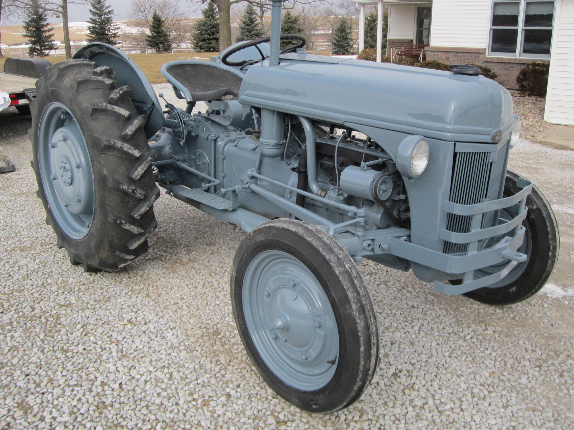 Tractor after relaible service by sandblasting experts in Dorchester, NE