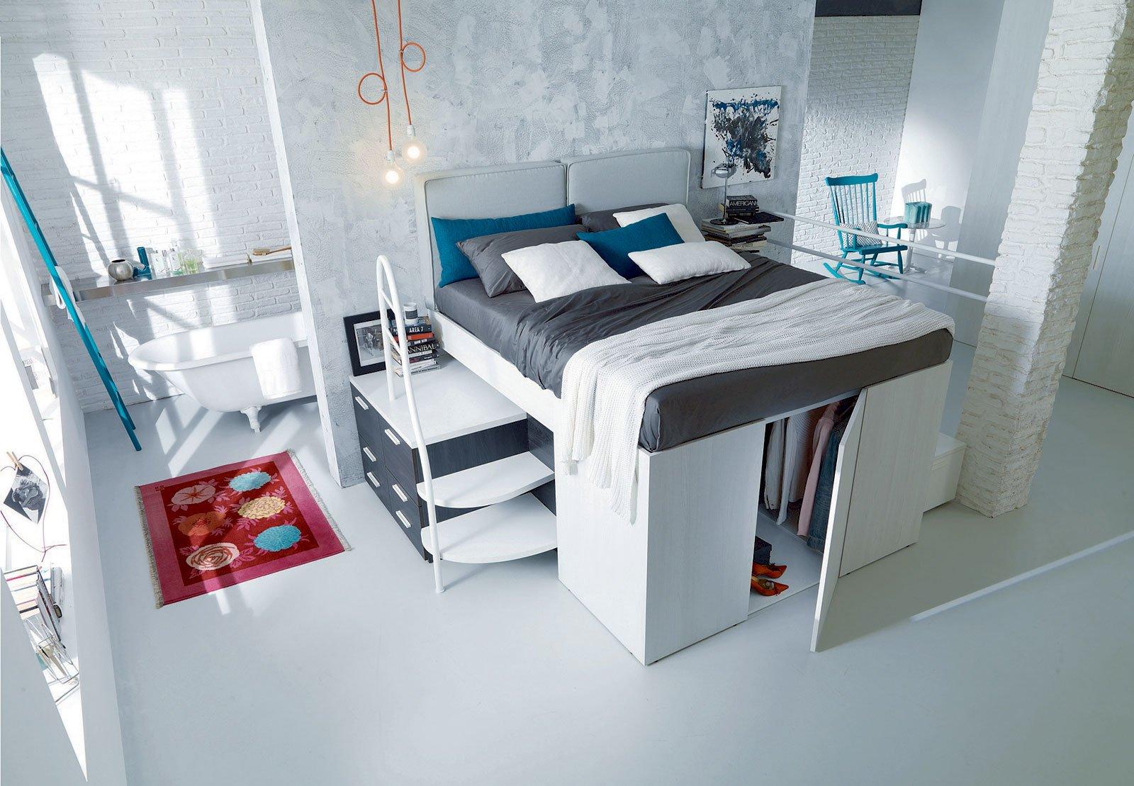 cameretta con letto e armadio interno