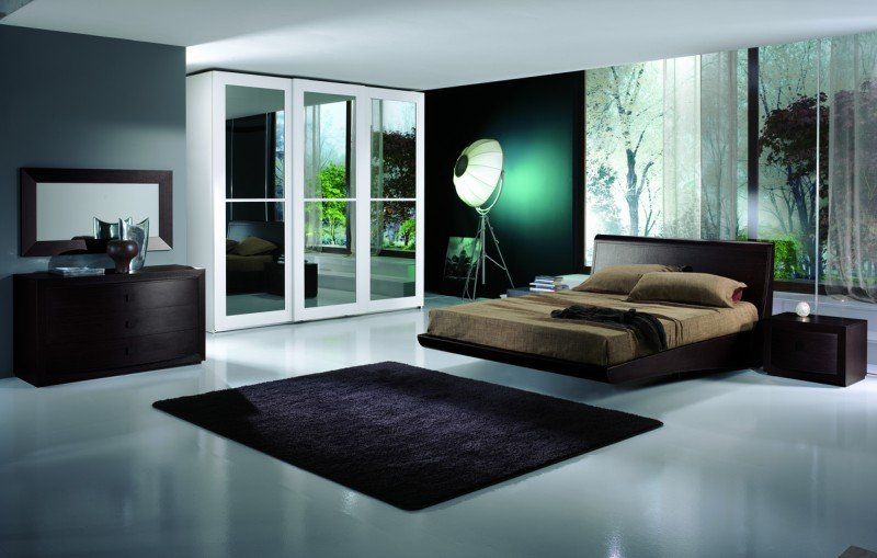 camera da letto con tappetp