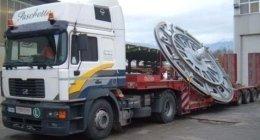 camion a rimorchio, autoarticolati, trasporto macchine industriali