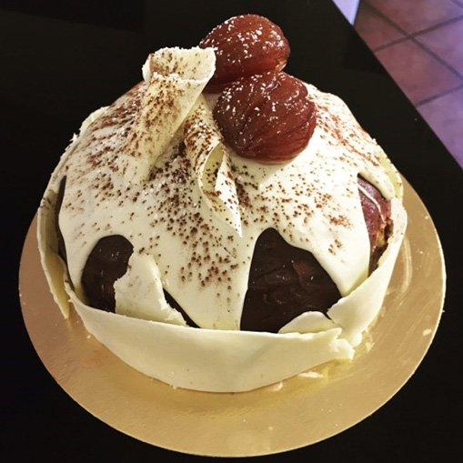 torta con marron glace