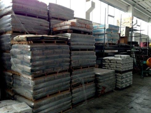 Materiali polverosi per costruzioni