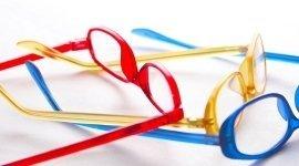 occhiali, montature, plastica