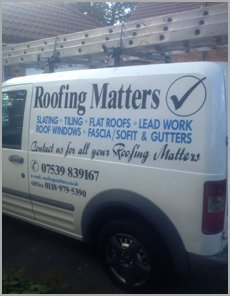 Roofing Matters service vehicle