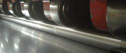 fila di ruote in acciaio