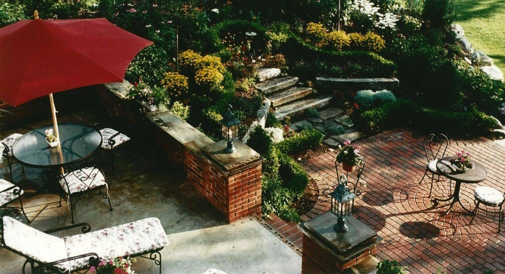 garden by landscape contractor in Bedford Heights, OH