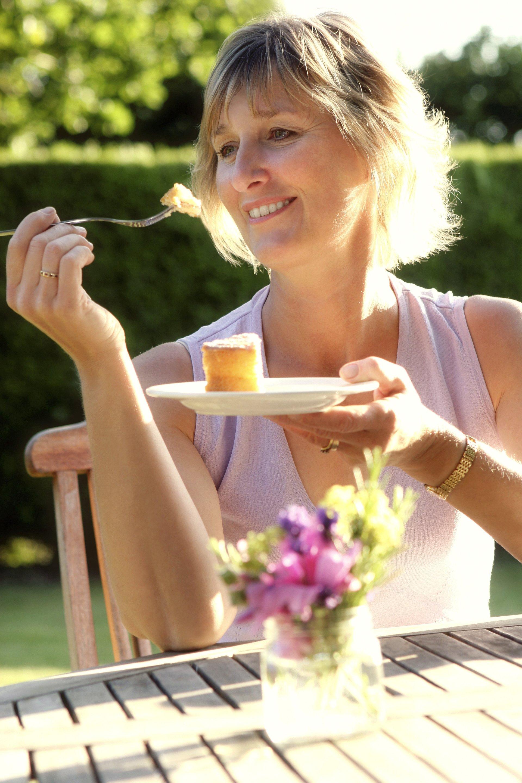 woman in backyard of rental house in austin