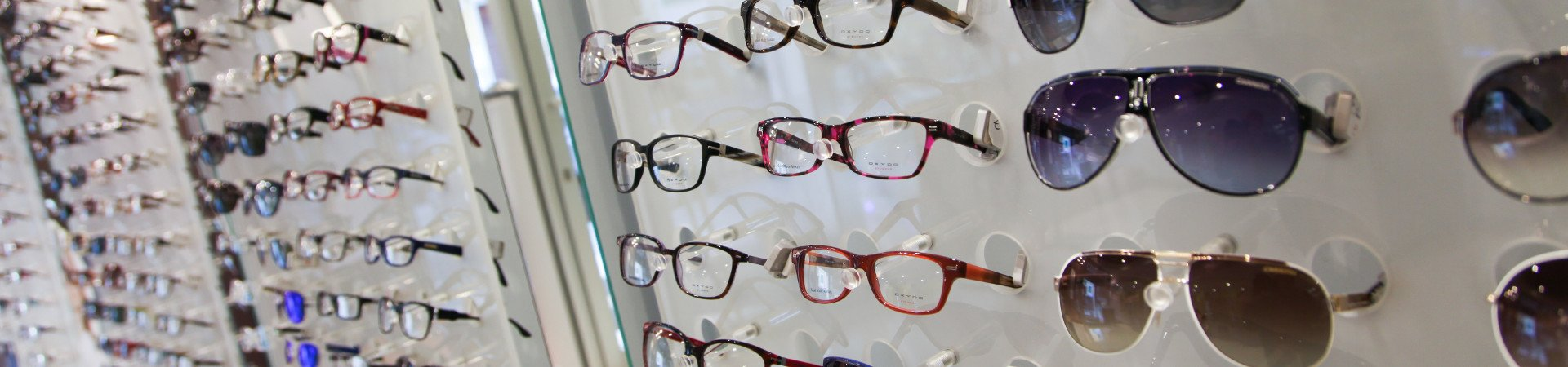 Display of glasses from the Ottica Brigida store