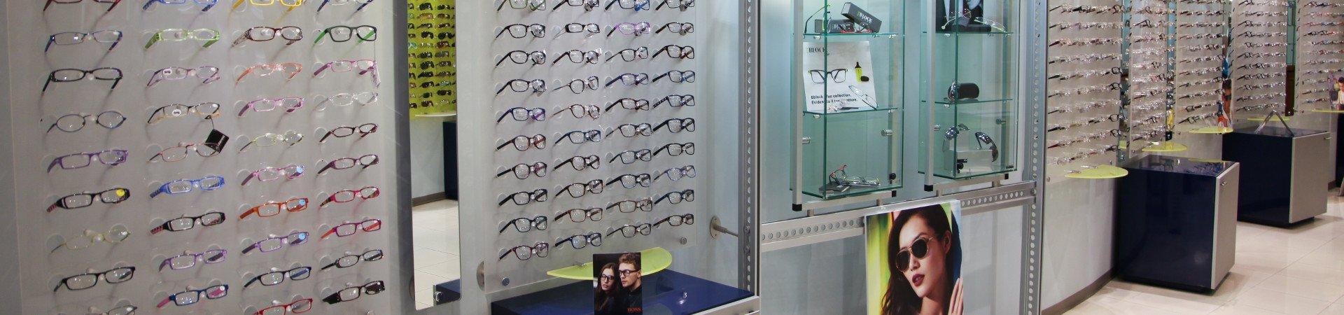 Display of glasses from Ottica Brigida.