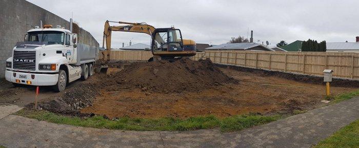 Earth digging work in progress