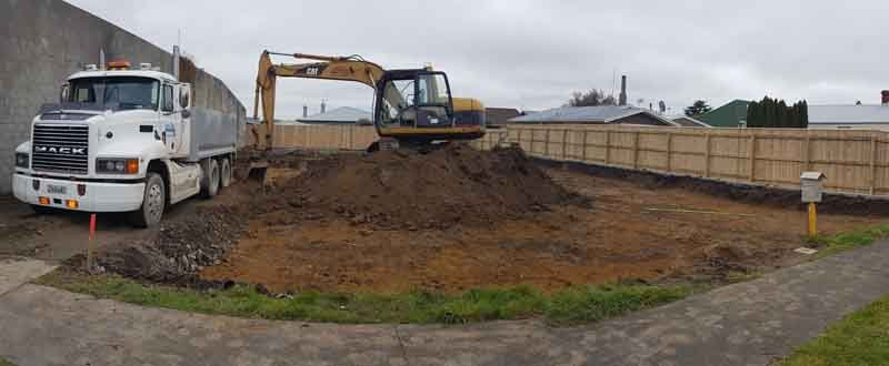 Site clearance for a commercial car park