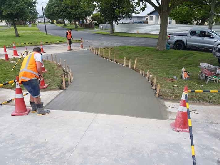 New domestic concrete vehicle crossing