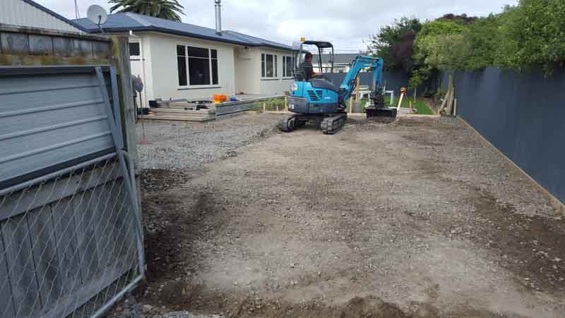 Prepping a domestic driveway