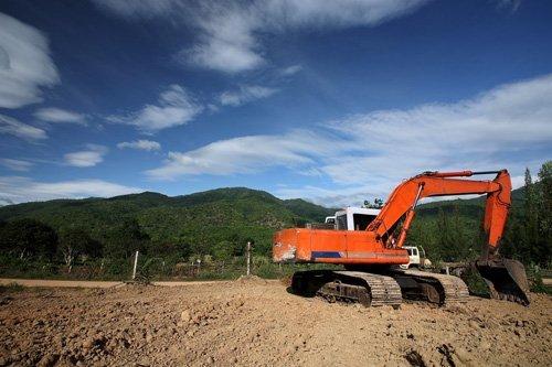 Rural earth digging work in progress