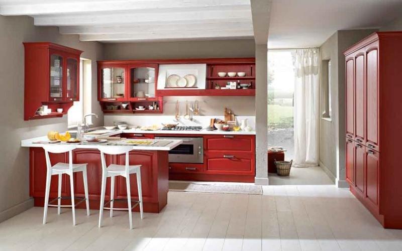 cucina classica Midacharme rossa - Padova