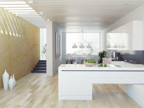 Cucina componibile bianca - Cartura