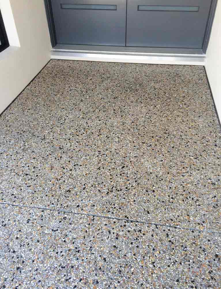 Exposed aggregate services in perth metro concrete for Exposed concrete floor