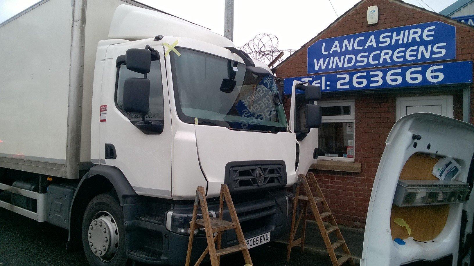 truck windscreen
