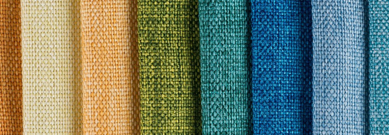 set di tessuti di diverso colore