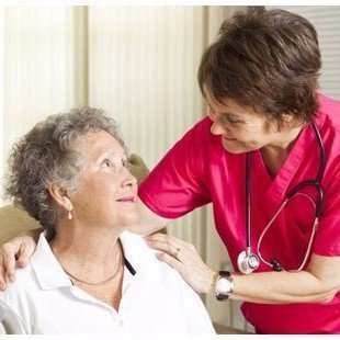 Aldersgate Village Home-Health Care Nurse with Elderly Woman