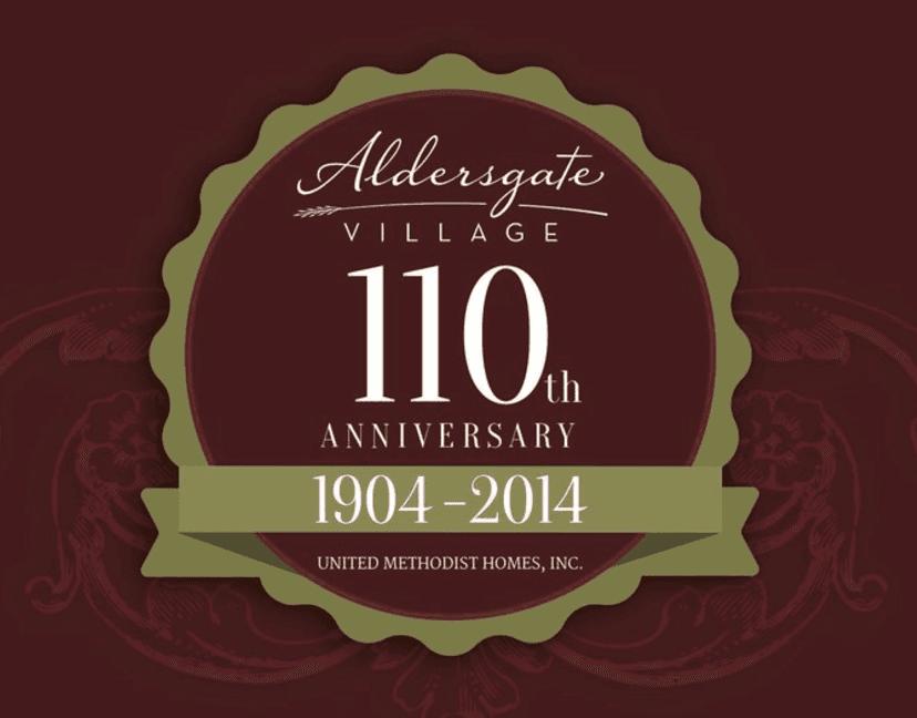 Aldersgate Village 110th Anniversary Badge