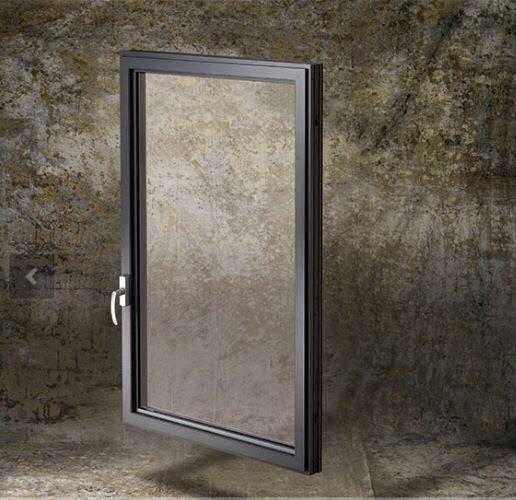 Campione di porta di metallo e di vetro