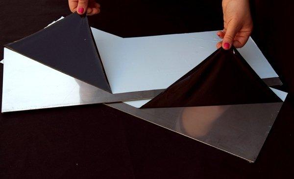 Pellicola per acciaio alluminio legno