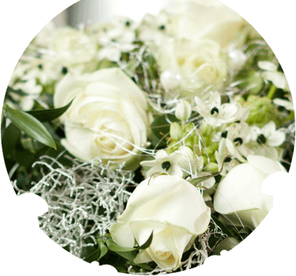corone di fori, fiori per cerimonia funebre, fiori per funerali