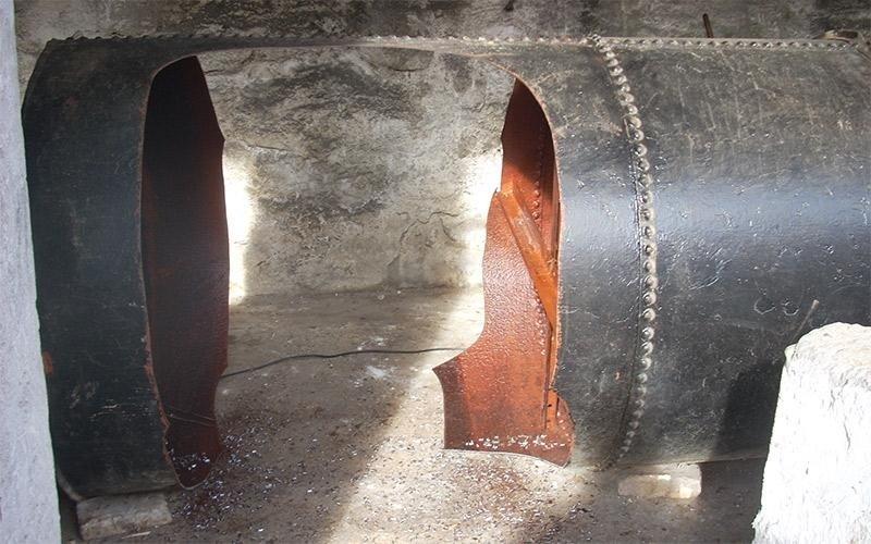 Smantellamento cisterna gasolio