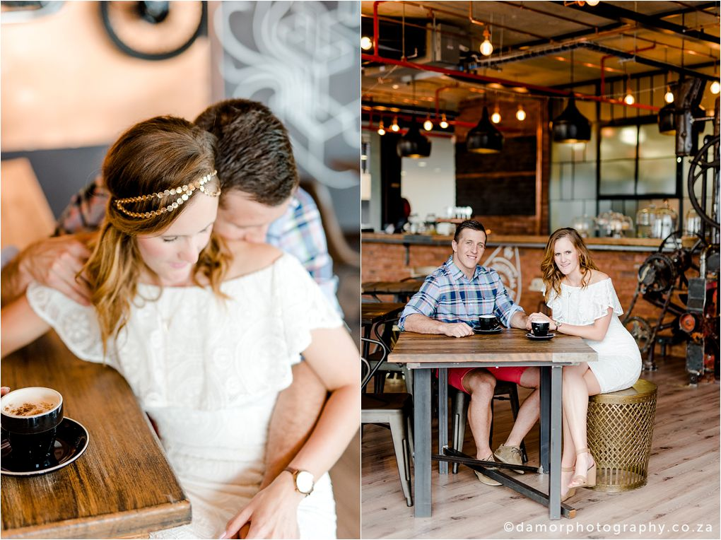 Engagement shoot at Industrial Coffee Works in Centurion by D'amor Photography 10