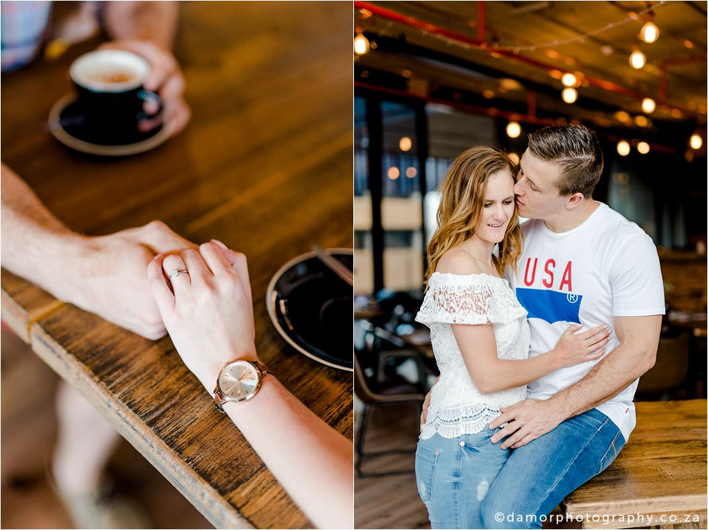 Engagement shoot at Industrial Coffee Works in Centurion by D'amor Photography 11