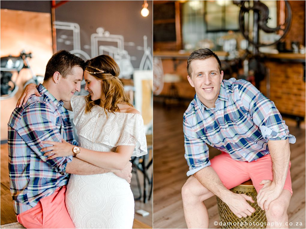 Engagement shoot at Industrial Coffee Works in Centurion by D'amor Photography 15