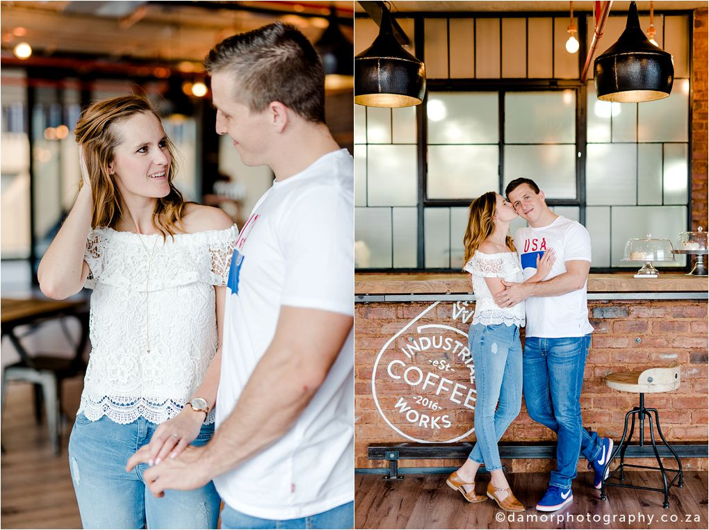 Engagement shoot at Industrial Coffee Works in Centurion by D'amor Photography 18