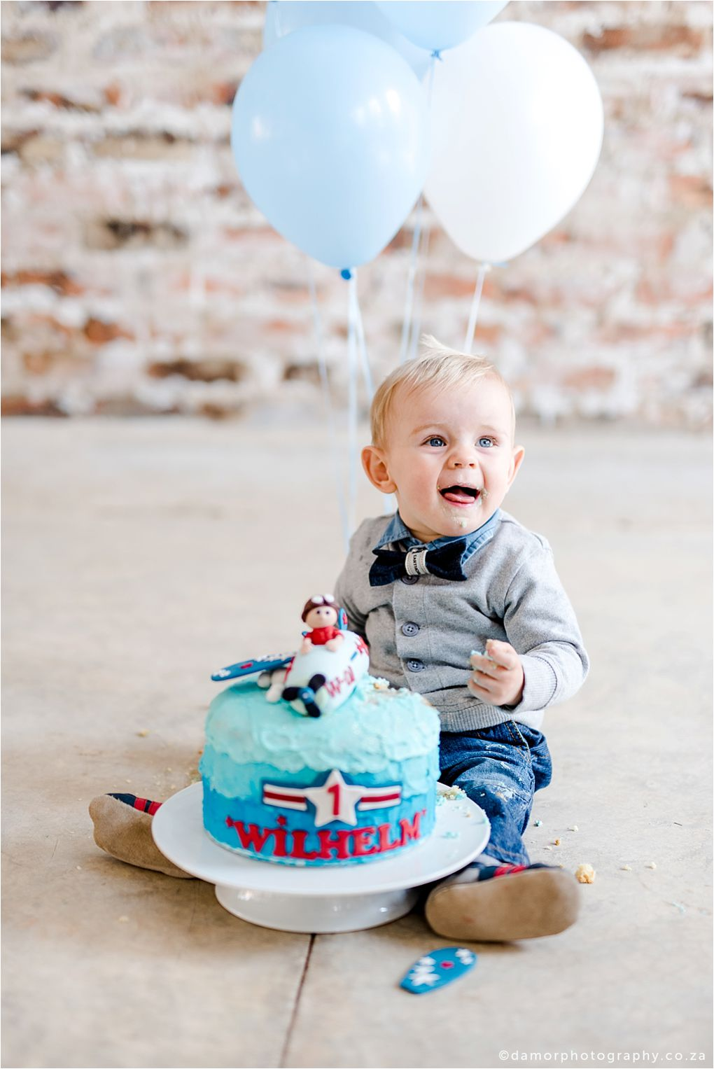 D'amor Photography Cake Smash Shoot One Year Old Boy Birthday