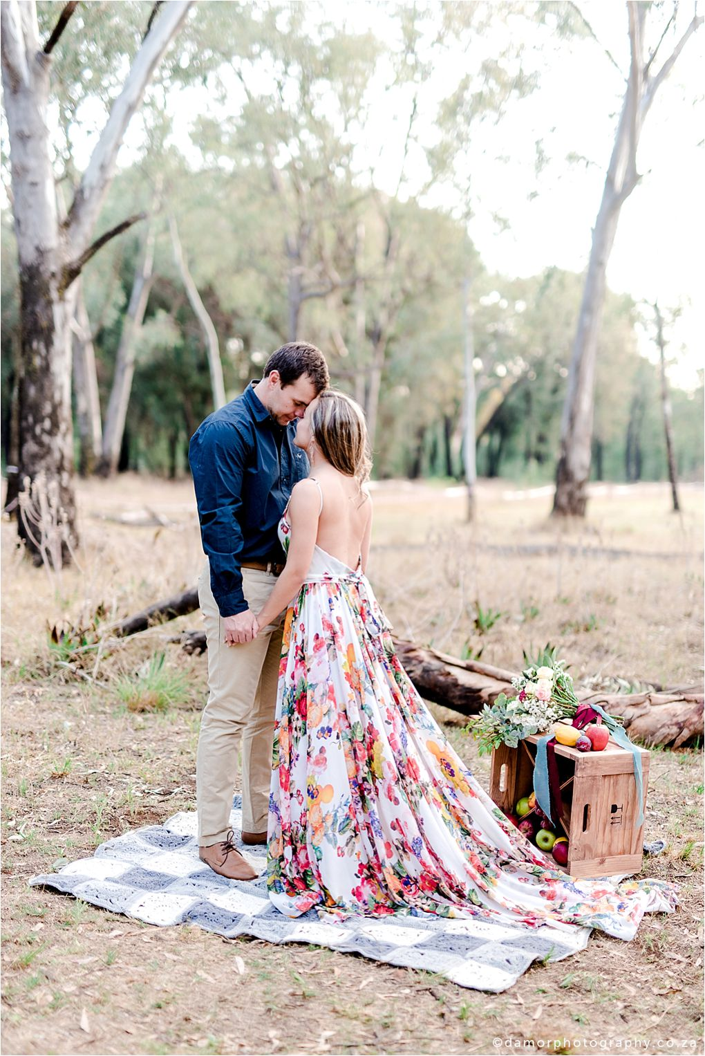 floral engagement shoot by damor photography