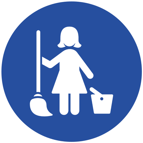 Residential cleaning icon