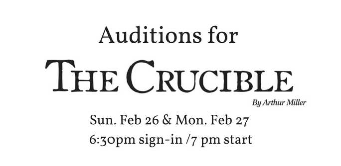 Click here for details on The Crucible Auditions