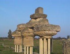 vecchie rovina della colonne